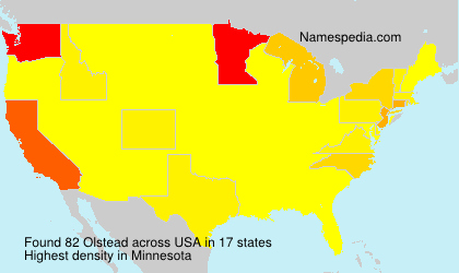Surname Olstead in USA
