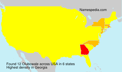 Surname Olubowale in USA