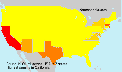 Surname Olumi in USA