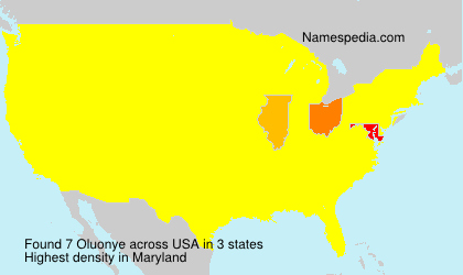 Surname Oluonye in USA