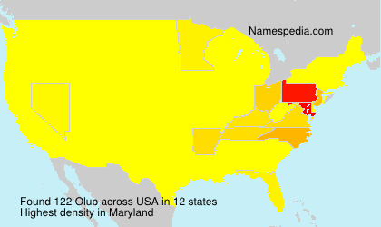 Surname Olup in USA