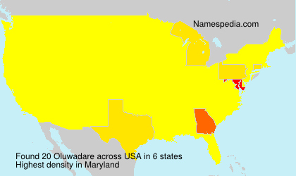 Surname Oluwadare in USA