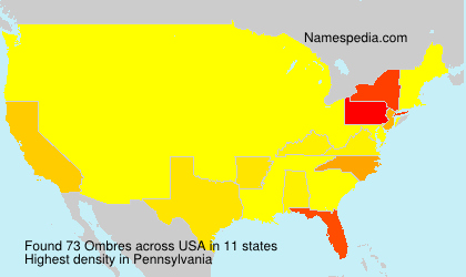 Surname Ombres in USA