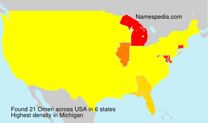 Surname Omeri in USA