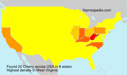 Surname Omery in USA