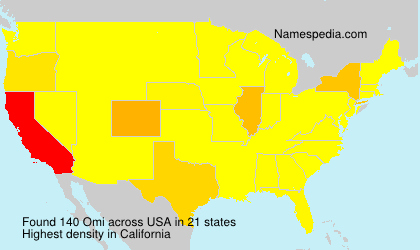 Surname Omi in USA