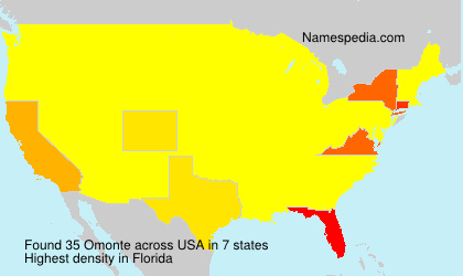 Surname Omonte in USA
