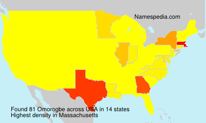 Surname Omorogbe in USA