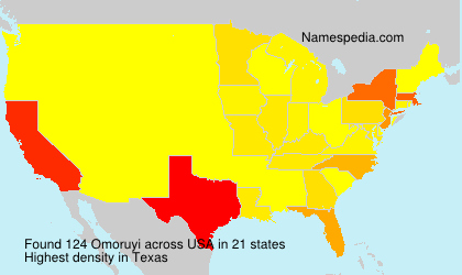 Surname Omoruyi in USA