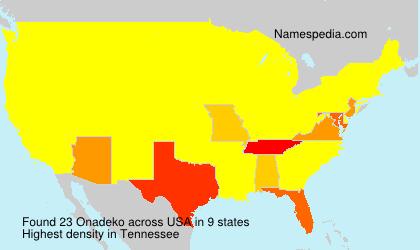 Surname Onadeko in USA