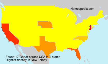 Surname Ondar in USA