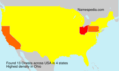 Surname Onesta in USA
