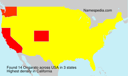 Surname Ongarato in USA