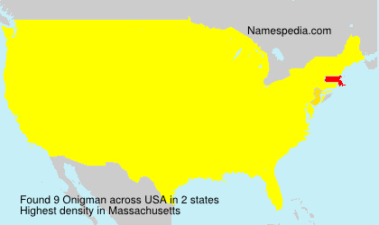Surname Onigman in USA