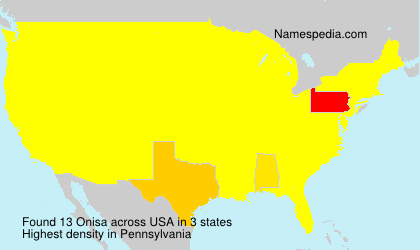 Surname Onisa in USA