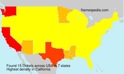 Surname Onkels in USA