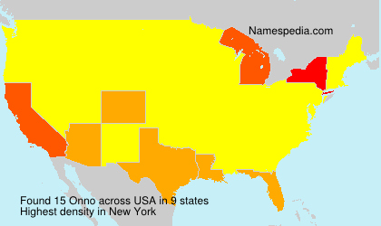 Surname Onno in USA