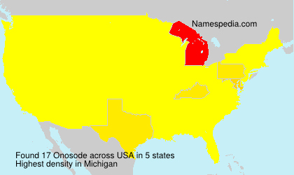 Surname Onosode in USA