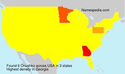 Surname Onushko in USA