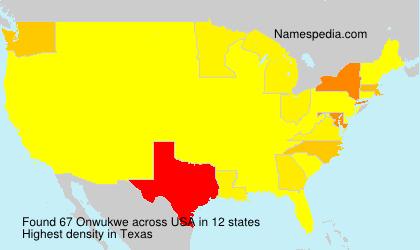 Surname Onwukwe in USA