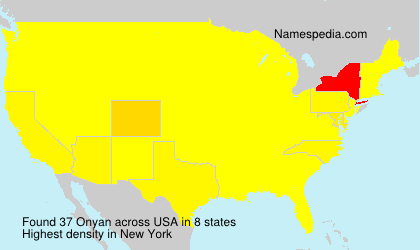 Surname Onyan in USA