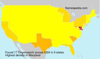 Surname Onyemaechi in USA