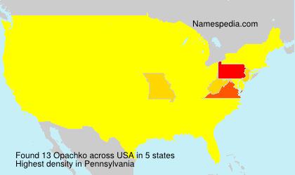 Familiennamen Opachko - USA