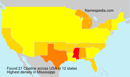 Surname Opaline in USA