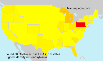 Surname Opalko in USA