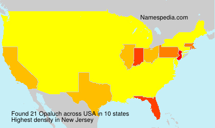 Surname Opaluch in USA