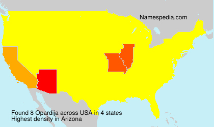 Familiennamen Opardija - USA