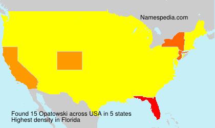 Familiennamen Opatowski - USA