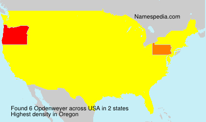 Surname Opdenweyer in USA