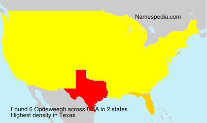 Surname Opdeweegh in USA