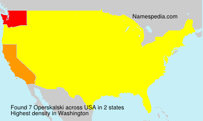 Surname Operskalski in USA