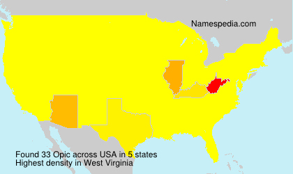 Surname Opic in USA