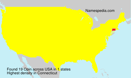 Surname Opin in USA