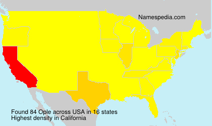 Surname Ople in USA