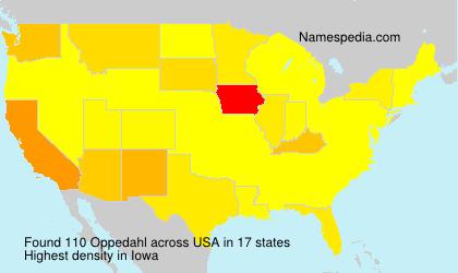Familiennamen Oppedahl - USA