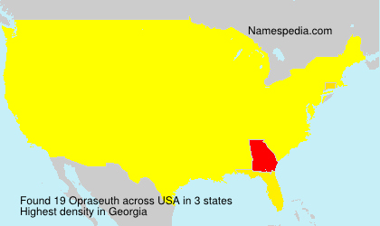 Surname Opraseuth in USA
