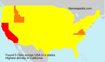 Surname Opto in USA