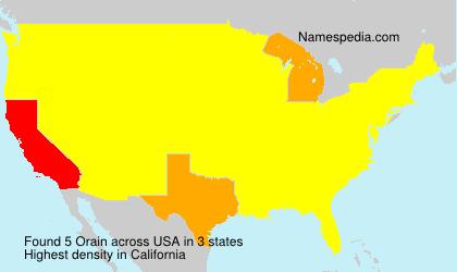 Surname Orain in USA