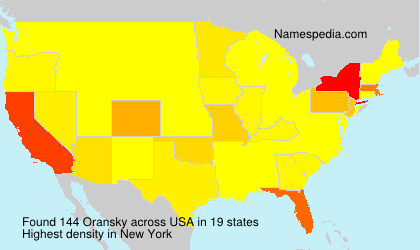 Surname Oransky in USA