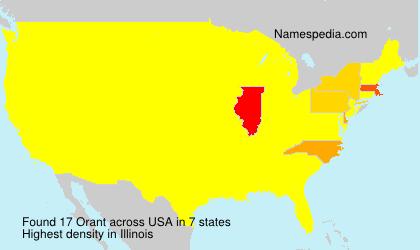Familiennamen Orant - USA