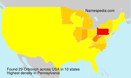 Familiennamen Orbovich - USA