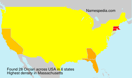 Surname Orciari in USA