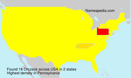 Surname Orczeck in USA