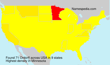Surname Ordorff in USA
