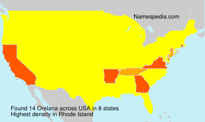 Surname Orelana in USA