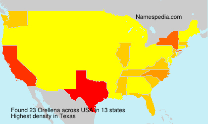 Surname Orellena in USA